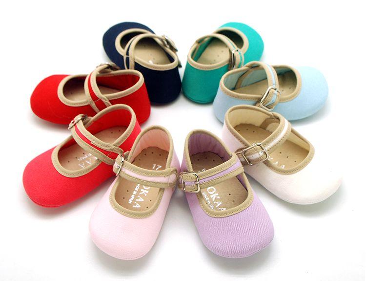 Tienda Online De Calzado Infantil Okaaspain Zapato Tipo Mercedita Con Velcro Y Hebilla Para Bebés En Lona Algodón Para Vestir Di Zapatos De Bebé Lonas Calzas