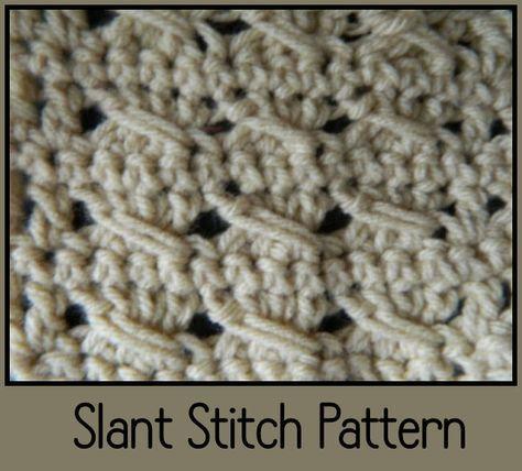 New Crochet Slant Stitch Pattern Video Httpwww