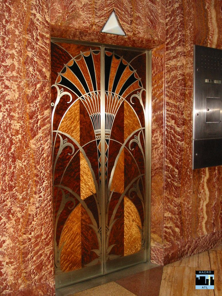 Deco elevator doors by macroatl architecture of art nouveau and