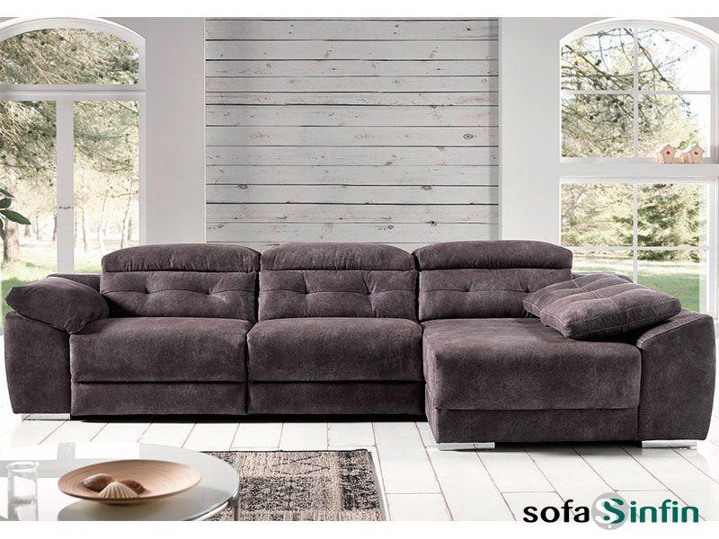 Sofá relax de 3 y 2 plazas con chaise longue modelo Donosti