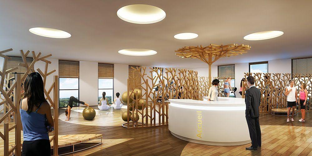 perspective 3d salle fitness yoga 1000 500 pixels gym salle de sport pinterest. Black Bedroom Furniture Sets. Home Design Ideas