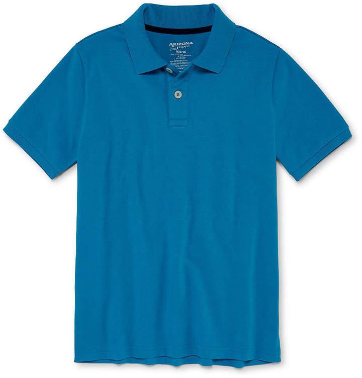 fac72fb3649 Arizona Short Sleeve Flex Polo Shirt -Boys 4-20   Products in 2018 ...