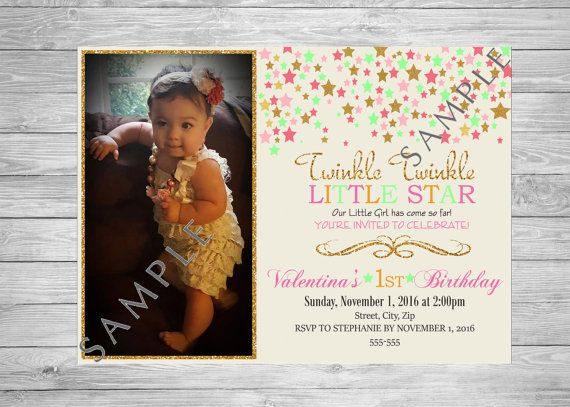 Twinkle Twinkle Little Star Birthday by TwoAngelsDesigns on Etsy