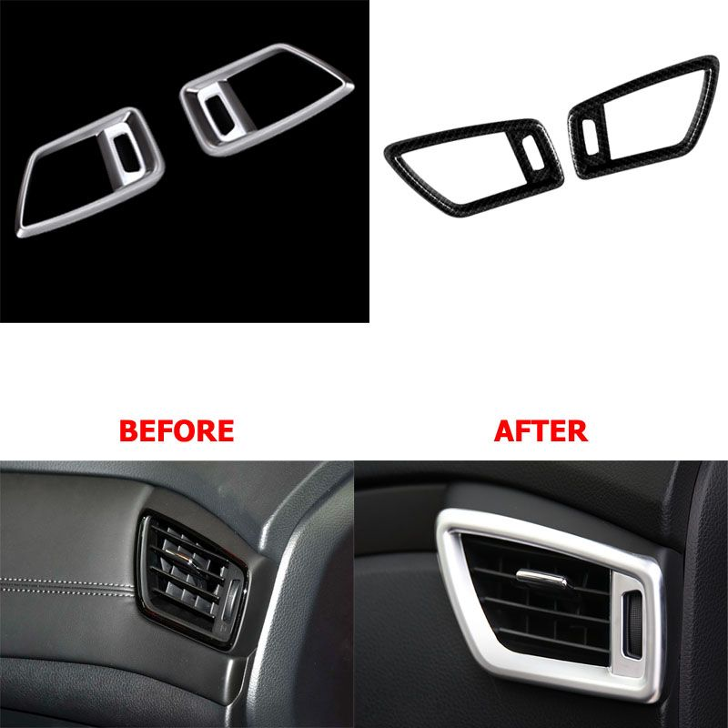 Interior Design Nissan X Trail: Car Styling Chrome Front Air Condition Cover Outlet Vent