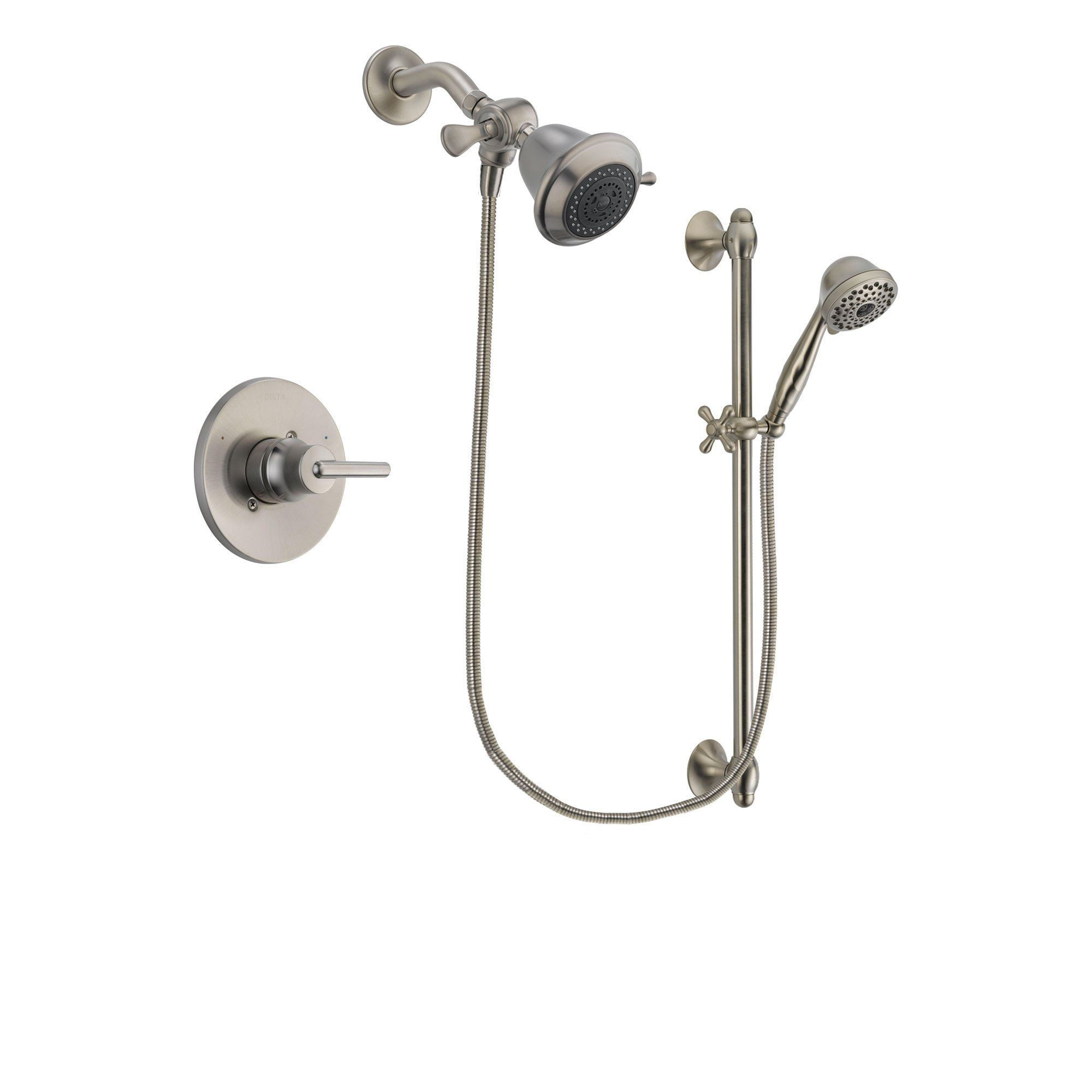 Delta Trinsic Stainless Steel Finish Shower Faucet System Package ...