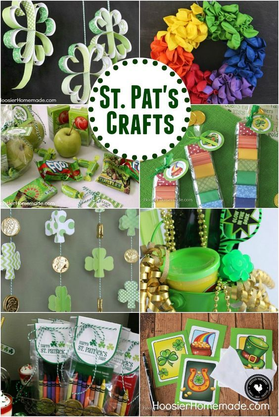 St. Patrick's Day Crafts - Simple, easy craft projects that the kids will LOVE! Paper Shamrocks, FREE Printables, Balloon Wreath and much more!