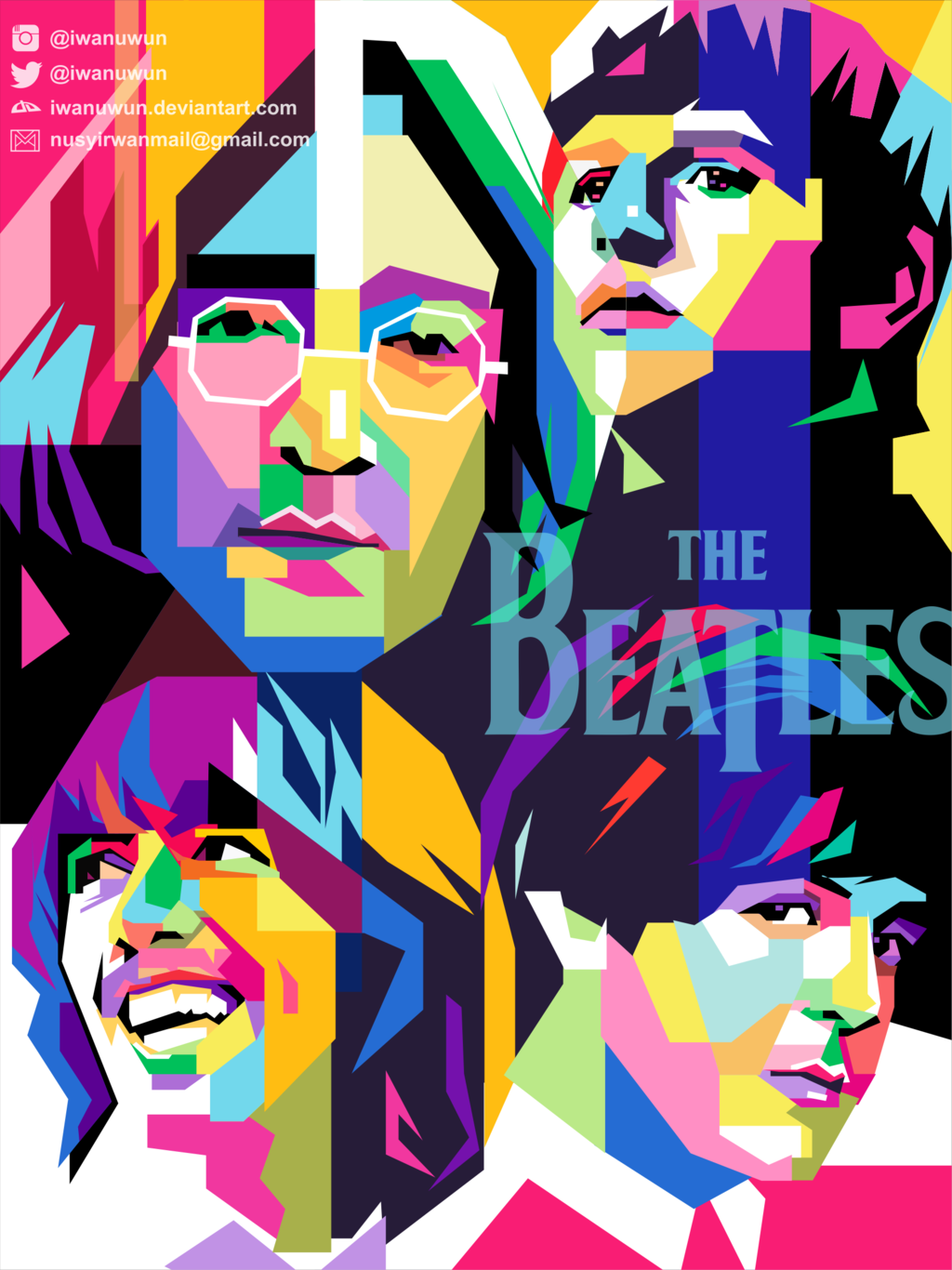 Cuadros Jorge Arranz The Beatles On Wpap By Iwanuwun On Deviantart Personajes