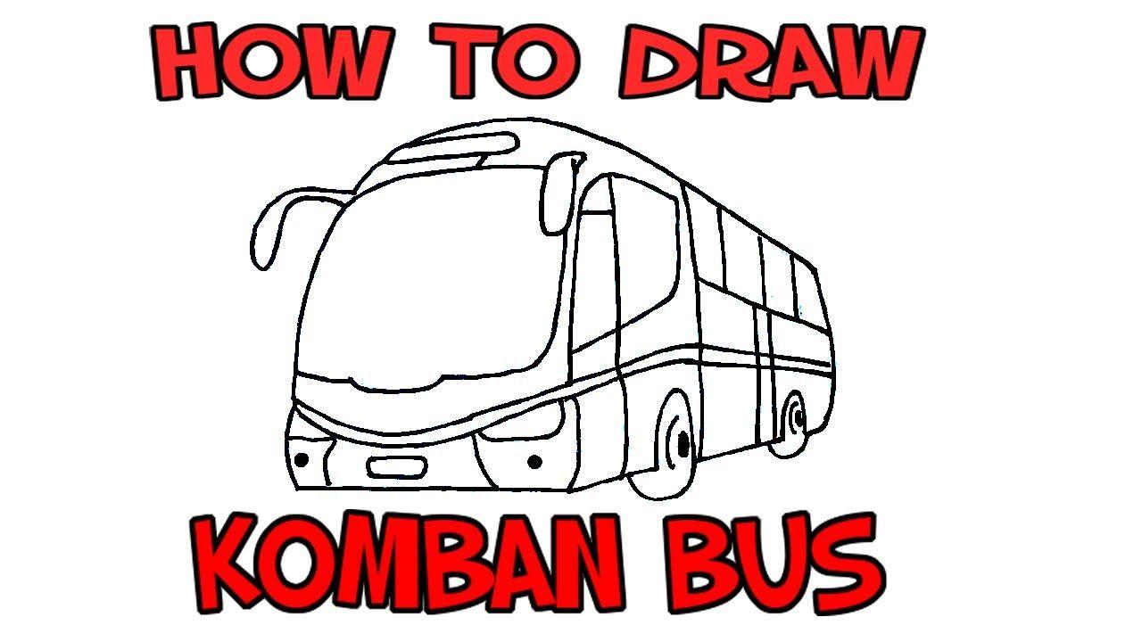 Komban Bus Drawing Komban Tourist Bus Pencil Drawing In 2020