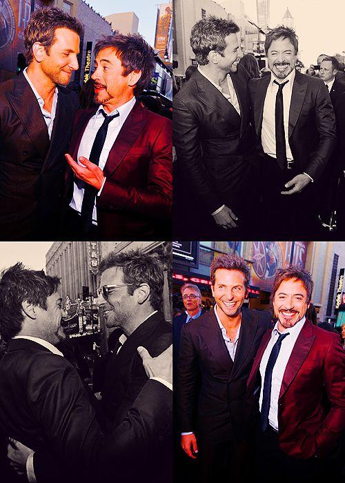 Bradley Cooper and Robert Downey Jr--two of my favorite actors!!!