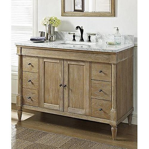142 V48 Fairmont Rustic Chic 48 Quot Vanity Weathered Oak