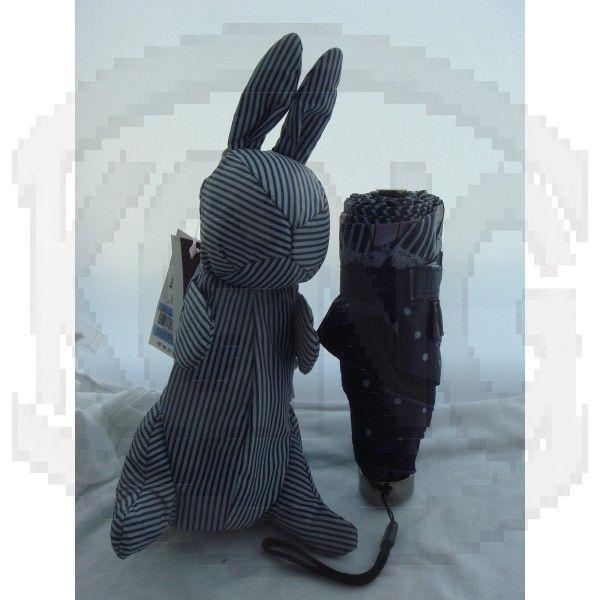 Sun protection umbrella 04 rabbit-black and white