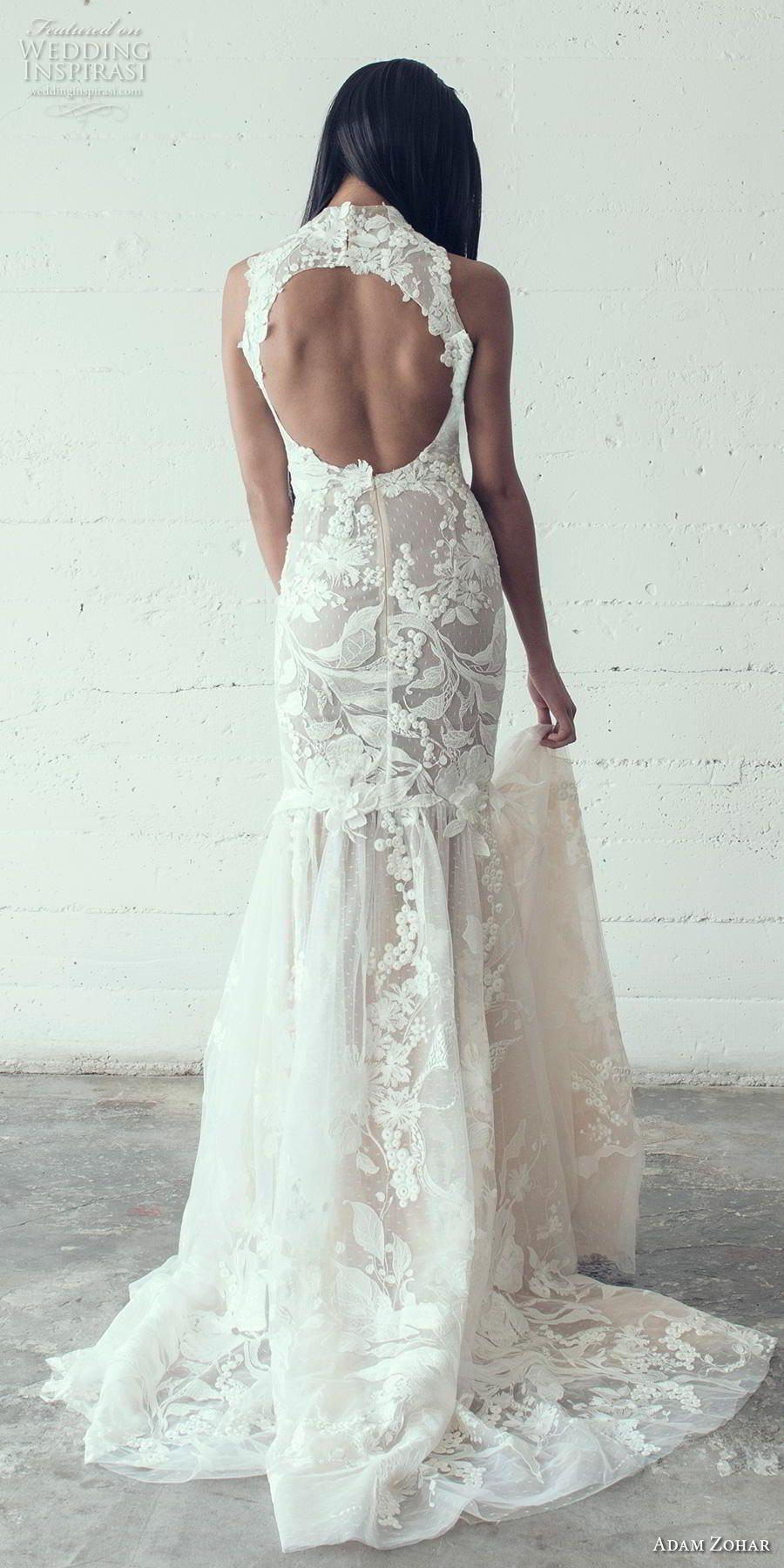Lace wedding dress halter  Adam Zohar  Wedding Dresses  F  Gowns  Pinterest  Wedding