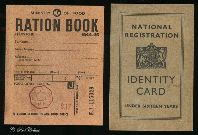 Food ration book ww2 planes