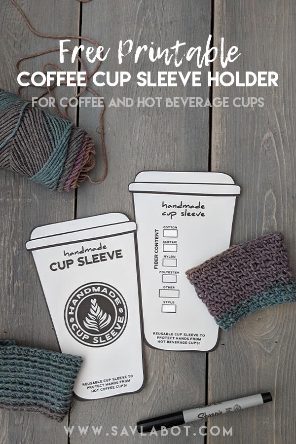 DIY handmade sleeve template   Coffee cup sleeves, Diy cups