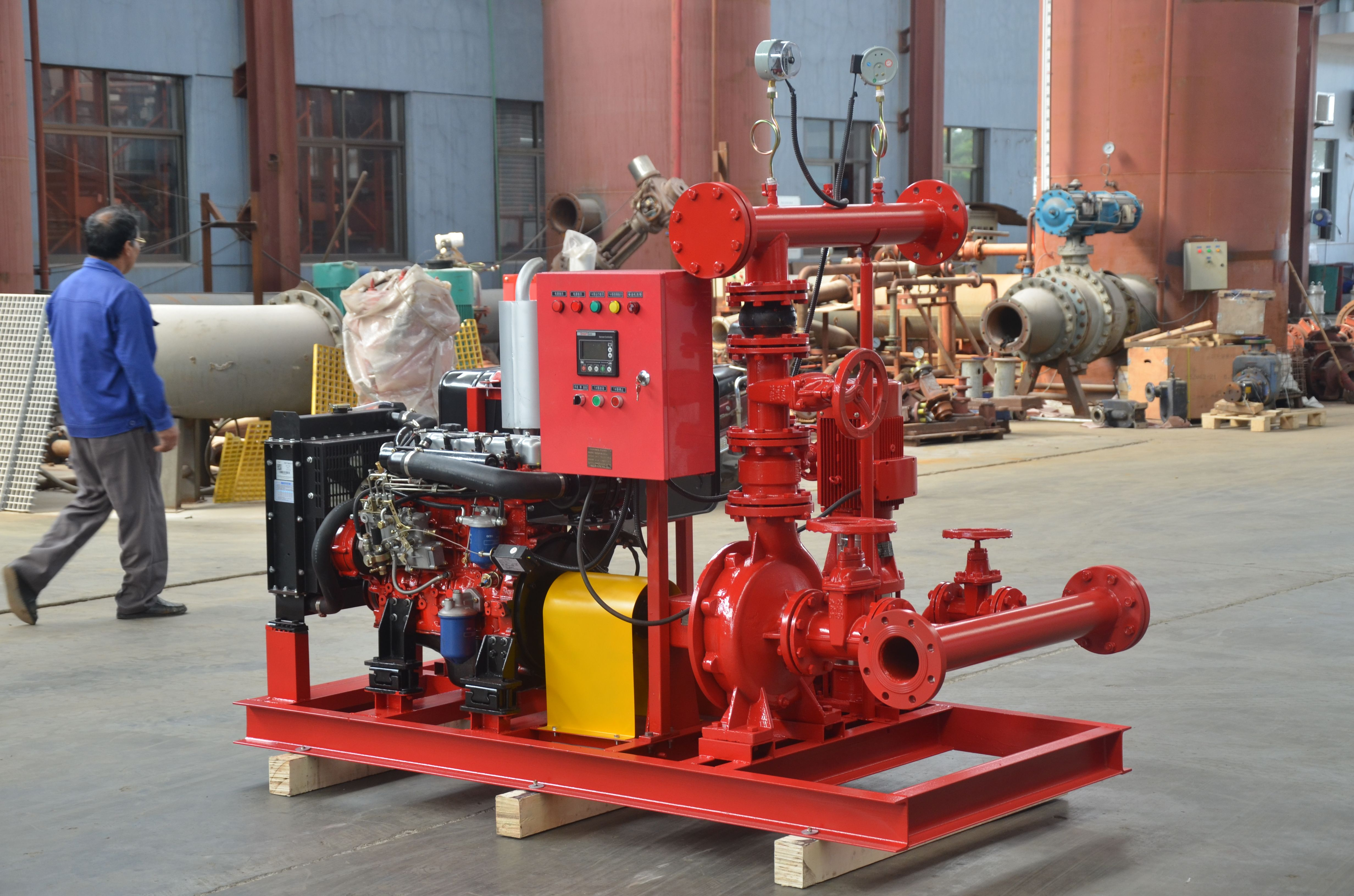 Fire Pump Package Comprises A Combination Of Electric Motor Driven Pump Diesel Engine Driven And Electric M Fire Fighting Pumps Electric Fires Fire Protection