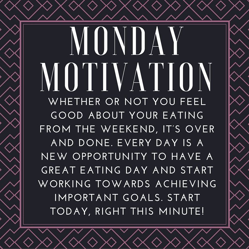 monday motivation whether or not you feel good about your eating