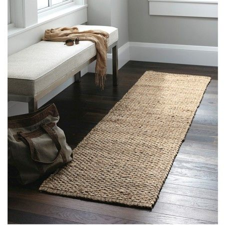 Woven Runner Rug Solid Natural Threshold Bright Ideas