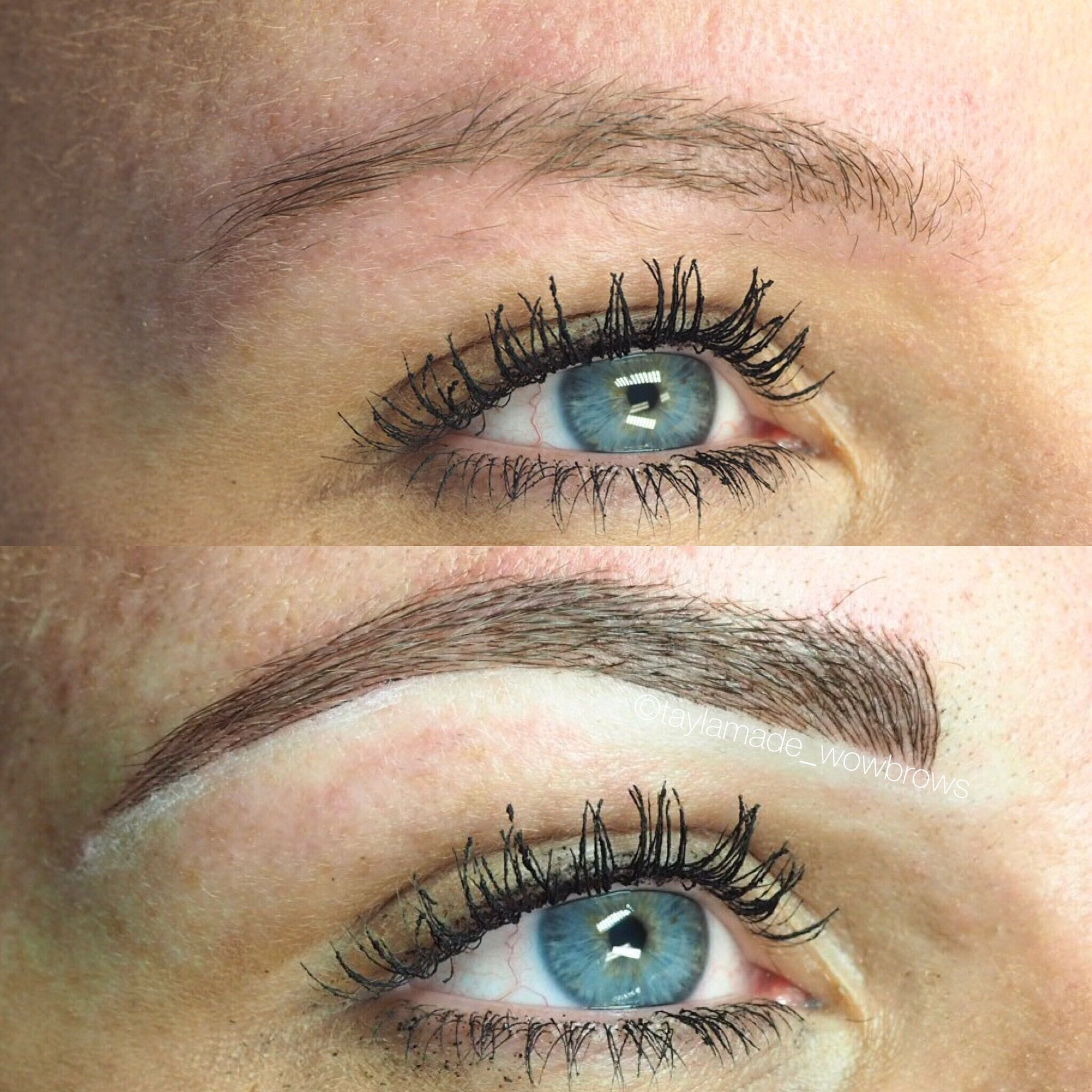 Hair Stroke Microblading Tattooed Eyebrows Cosmetic Tattoo