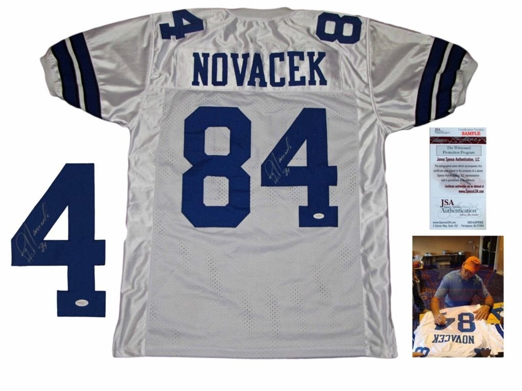 buy online 29910 370e9 jay novacek dallas cowboys pictures | Jay Novacek Signed ...