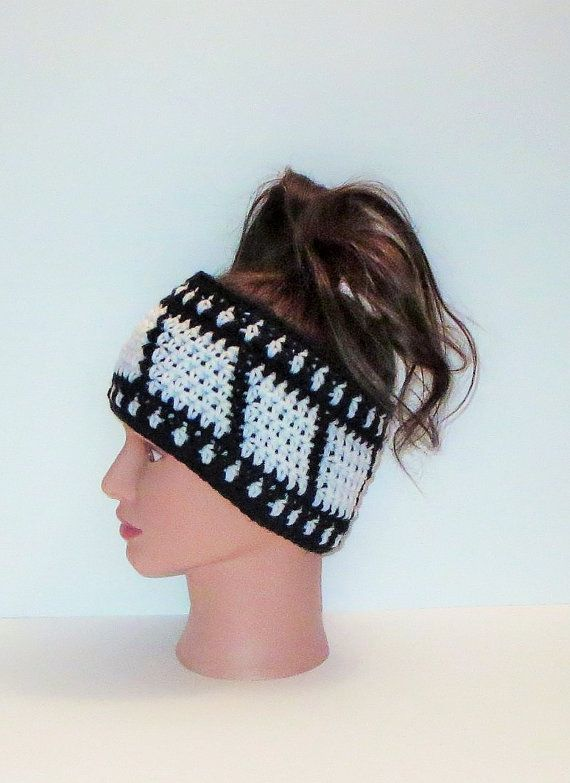 Film Strip Head Band, Ear Warmer, Tapestry Crochet, Themed Head Accessories, Fall & Winter