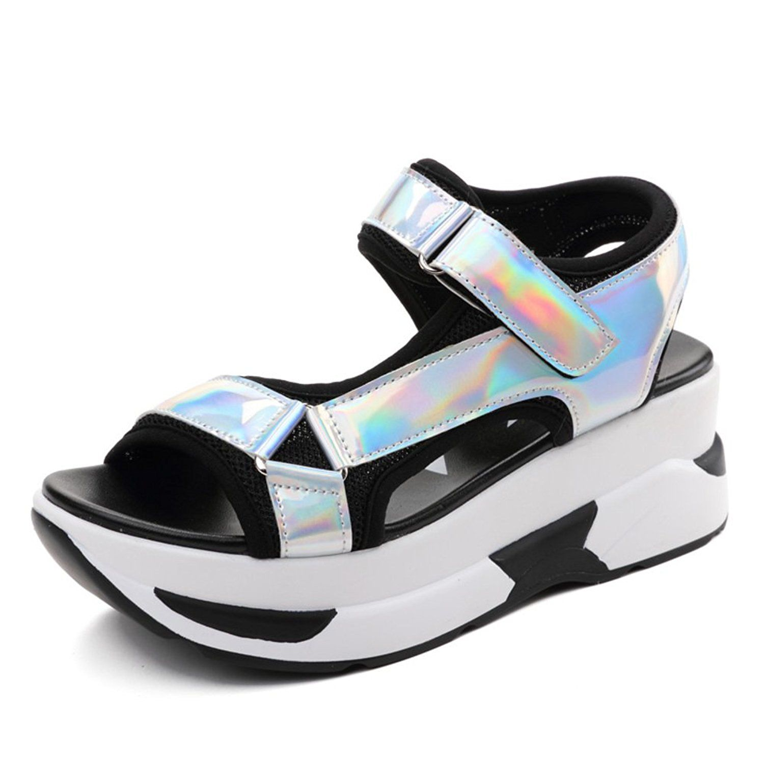 903bcbaa04bb Womens sandals Flat sandals with the student girl Cake thick-soled sports  shoes     Click image for more details.