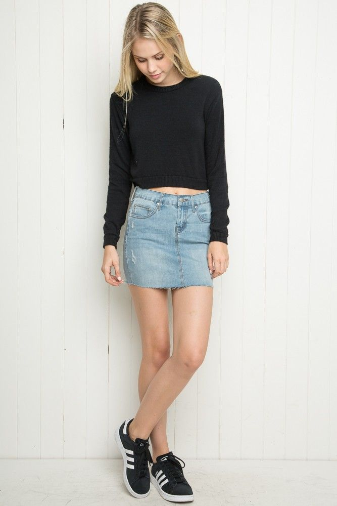 Brandy ♥ Melville | Joslyn Denim Skirt - Skirts - Bottoms ...
