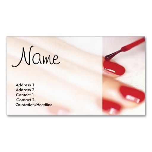 Painted Nails Business Card. This great business card design is available for customization. All text style, colors, sizes can be modified to fit your needs. Just click the image to learn more!