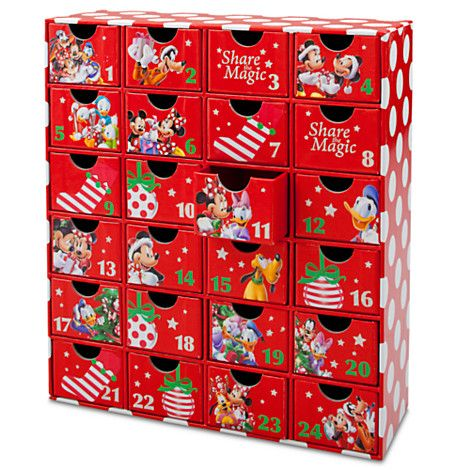 mickey mouse advent calendar gift drawers christmas. Black Bedroom Furniture Sets. Home Design Ideas