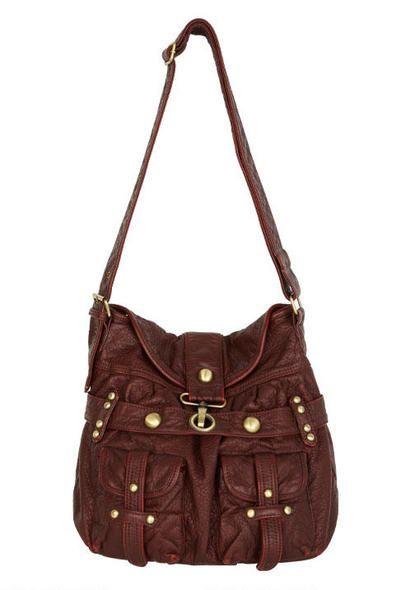 Saddle Up Bag In Burgundy So Cute I