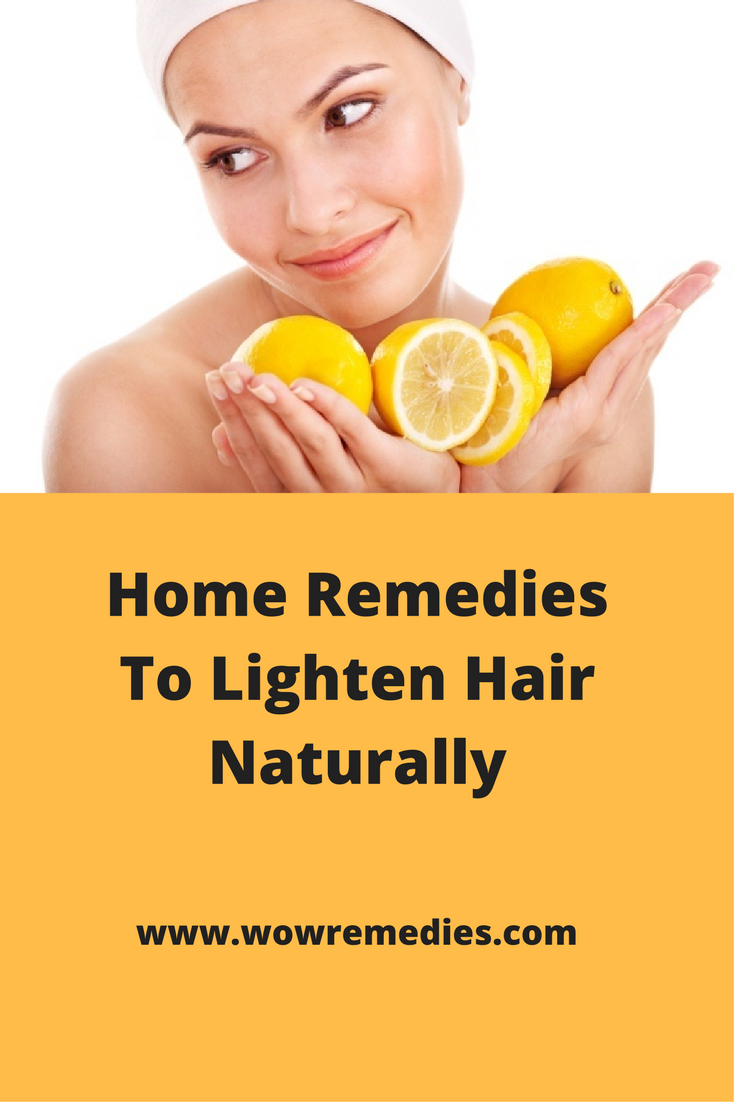 Home remedies to lighten hair homemade bleach for hair lighten