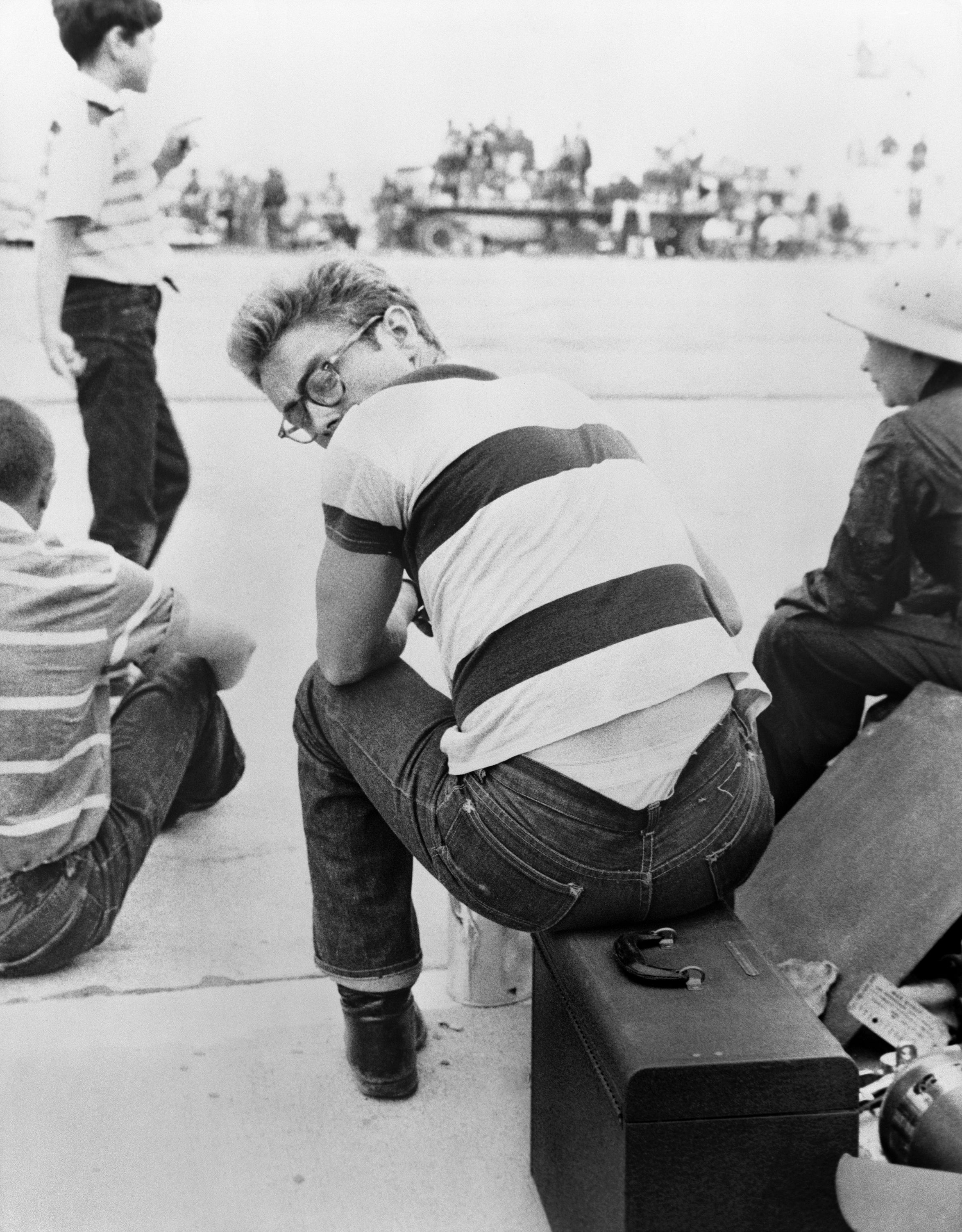 Frank Worth, James Dean Looking over his Shoulder at a Car Rally
