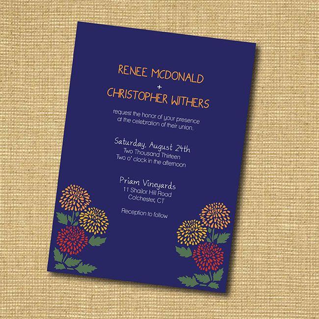 Rustic Floral Diy Printable Wedding Invitation Diy Printable Wedding Invitations Printable Wedding Invitations Wedding Printables