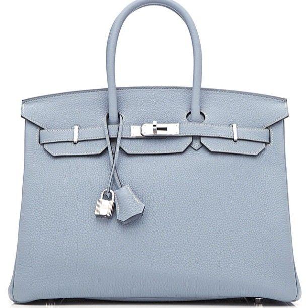 34bb4fbaaf2 Blue Lin. Hermes Birkin blue grey.   Style   Hermes handbags, Hermes ...