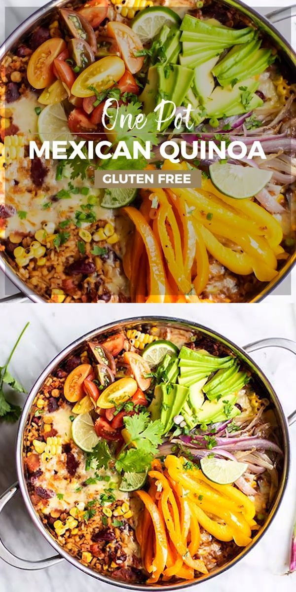 One Pan Mexican Quinoa and Rice