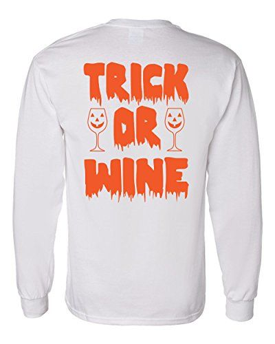 Long Sleeve Halloween T-Shirt Trick Or Wine Southern Elem…
