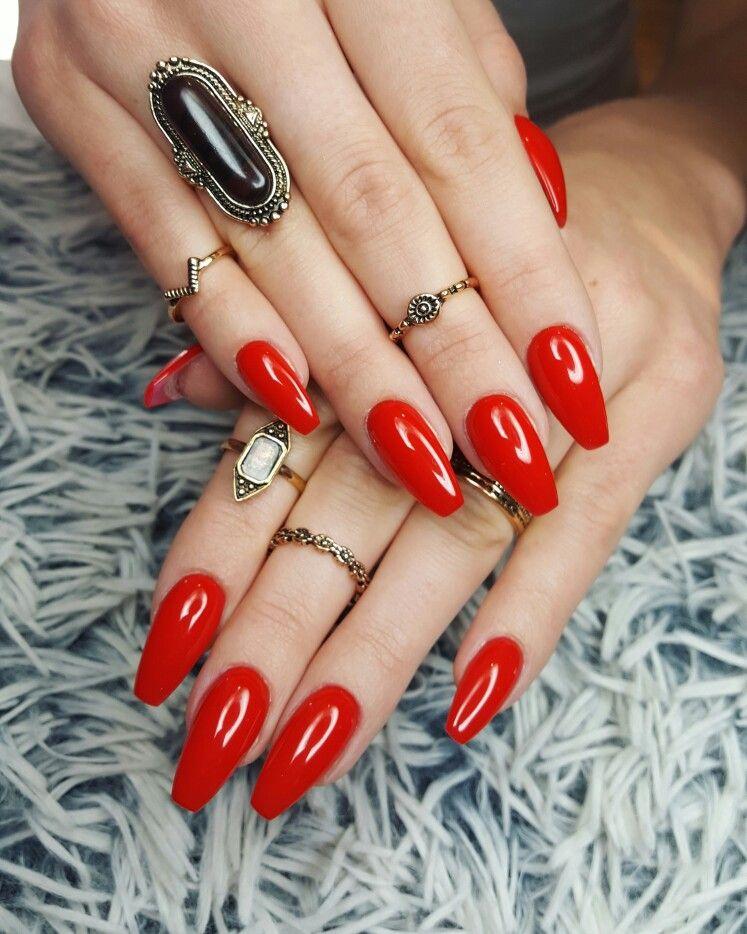 Red Nails Czerwone Paznokcie Klasyczne Paznokcie My Passion