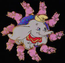 Pink Elephant Disney Pin