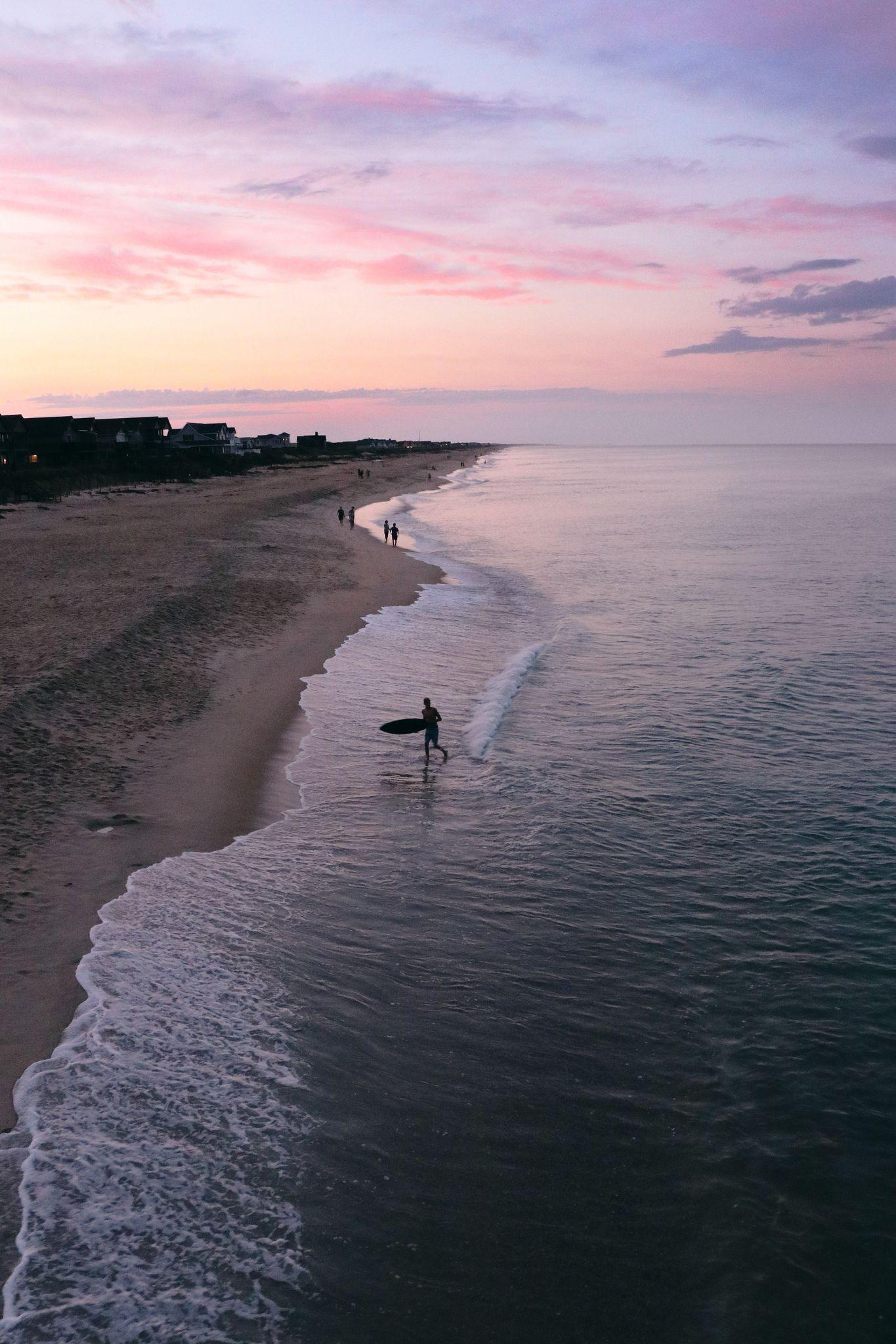 Surfer At Sunset Sunset Surf Surfing Wallpaper Beach Landscape
