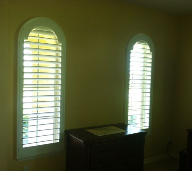 Beautiful Norman Louvered Arch Shutter Panels With