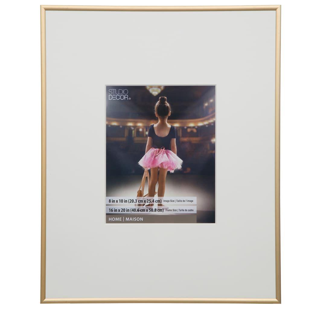 Gold Aluminum Frame 16 X 20 With 8 X 10 Mat Home Collection By Studio Decor Frame Decor Home Collections