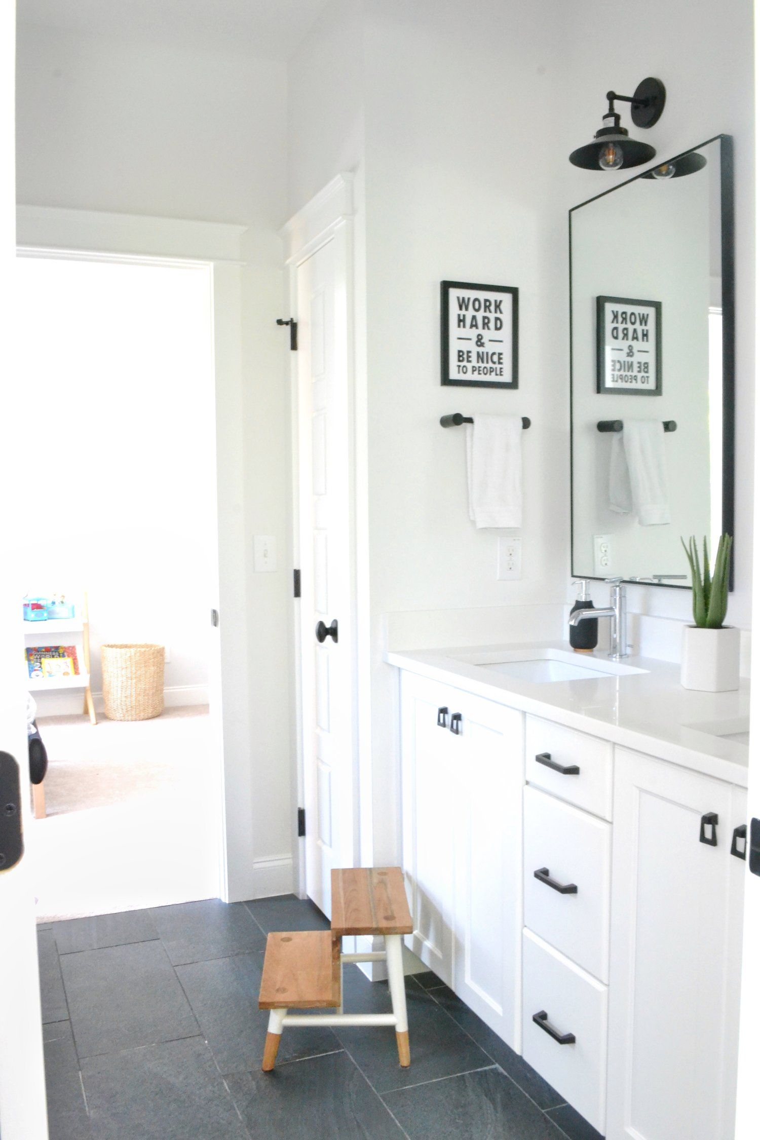 boys bathroom she wore navy | Home | Pinterest | Bathroom designs ...