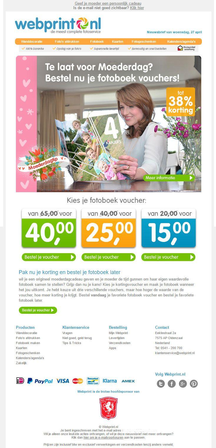 Webprint.nl - Mooie kortingsactie voor Moederdag