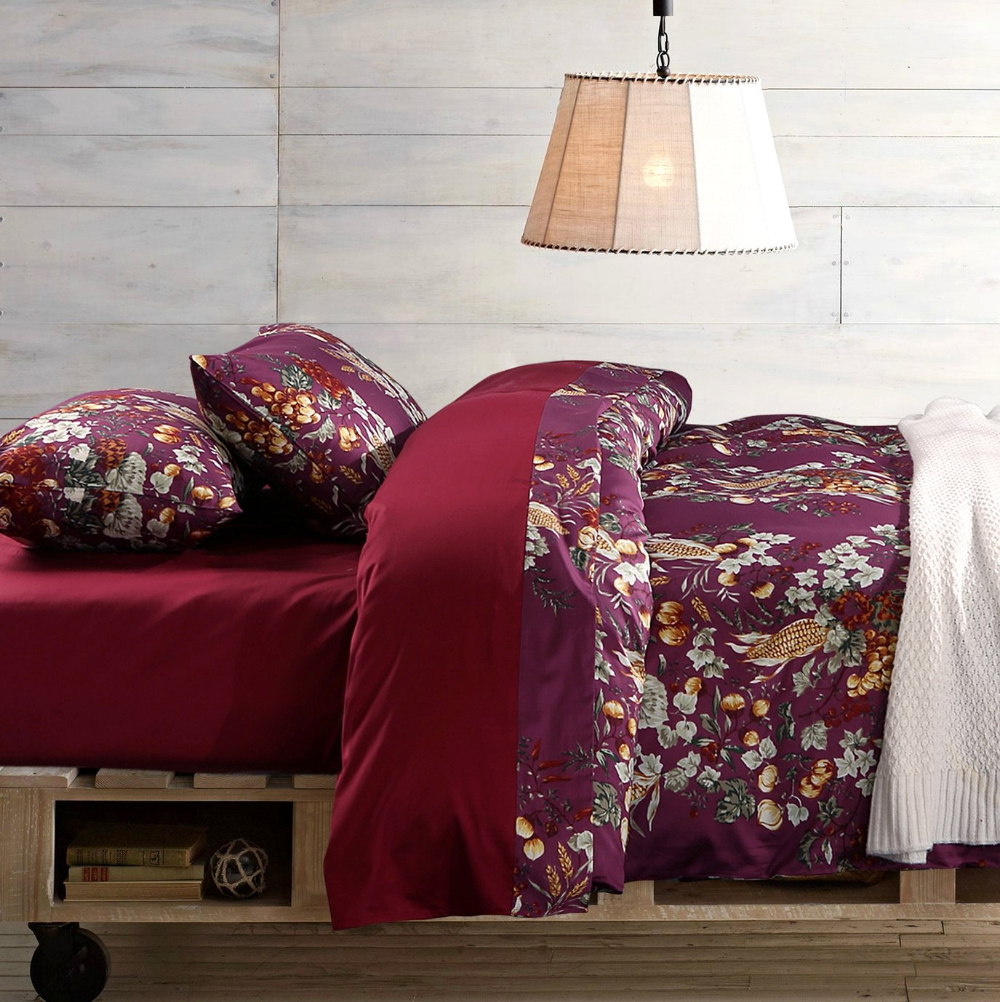 Reversible Branches with Coffee Bedding Sets Ease