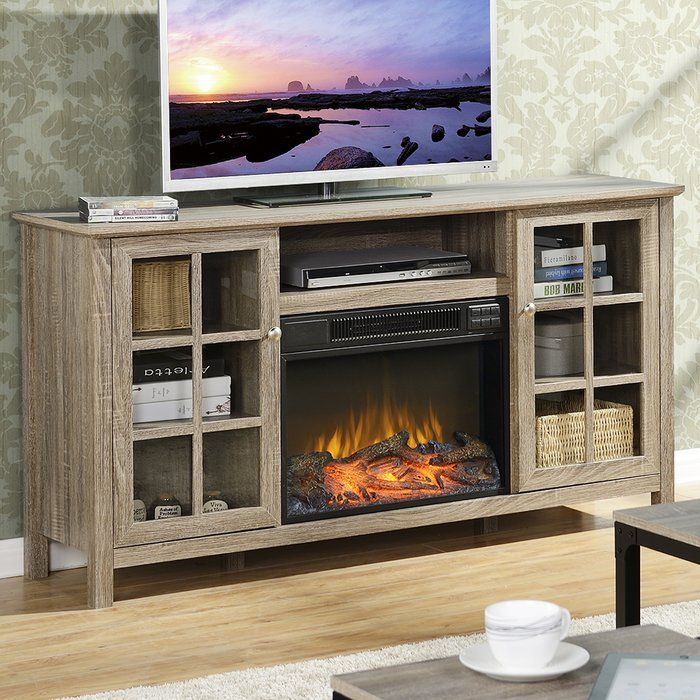 The Provence 60 Tv Stand With Electric Fireplace Will Hold Tvs Up To 65 And Is The Ideal Media Fireplace Tv Stand Tv Stand And Entertainment Center Tv Stand