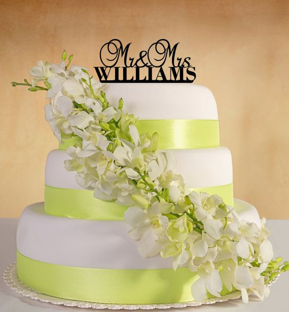 Wedding Cake Topper. Mr&Mrs with your last name (Bold)   Wedding ...