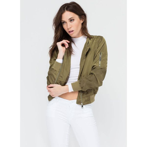 Top It Off Bomber Windbreaker Jacket (€30) ❤ liked on Polyvore featuring activewear and activewear jackets