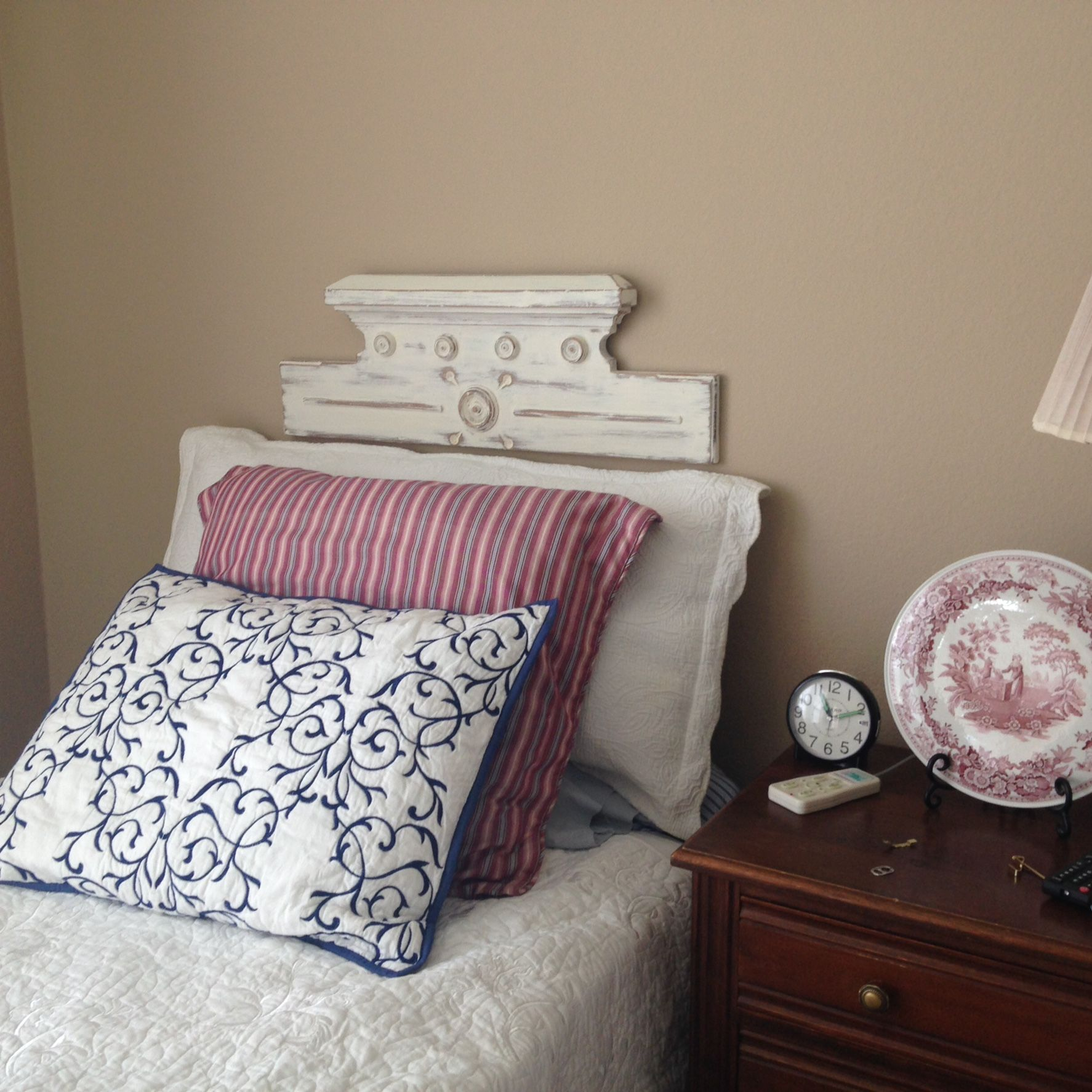 Pediment headboard My Home Pinterest
