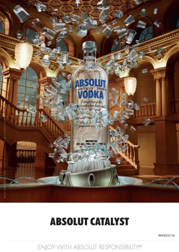 Absolut Vodka Catalyst Absolut Vodka Vodka Best Commercials