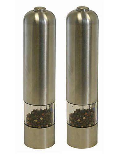 iTouchless Automatic Stainless Steel Pepper Mill and Salt Grinder - List price: $29.99 Price: $19.98 + Free Shipping