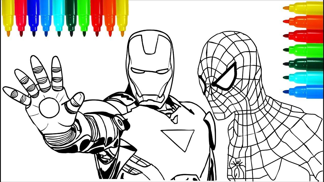 new coloring pages spiderman download
